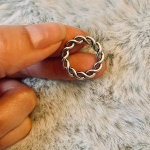 10 Tibetan Silver Braided Charms